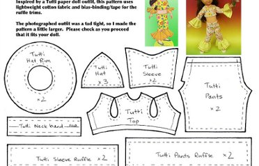Free Clothes Patterns Dolls Up To 11 Pearltrees