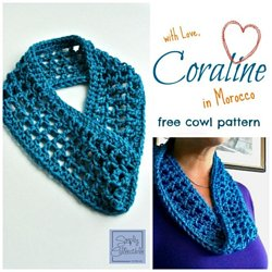 66074c6fe3b Coraline in Morocco One Skein Cowl Crochet Pattern - Simply Collectible
