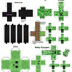 Papertoys Faciles Minecraft Pearltrees