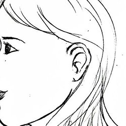 Dessin visage - Visage profil dessin ...