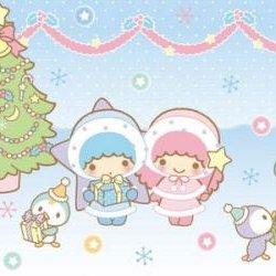 Sanrio Little Twins Stars Christmas Wallpaper