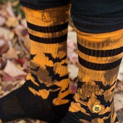 be1a1ec63 Plume Knee High Socks. Batfink Midcalf Socks. Bioluminescent Spores Crew  Socks