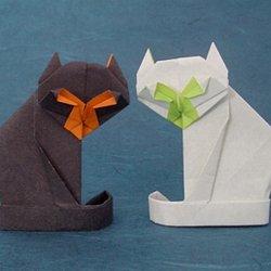 Papercraft 折り紙 ねこのしおり Cat Bookmark Origami ... | 250x250