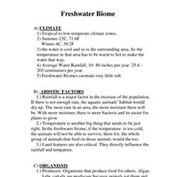 freshwater biome characteristics