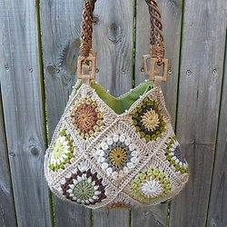 Sacs Crochet Granny Squares To A Beautiful Bag Pearltrees