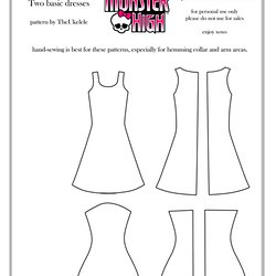 monster high clothes patterns pearltrees