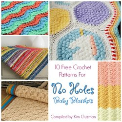Link Blast  10 Free Crochet Patterns for No Holes Baby Blankets  9a6cbeb76e0