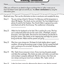 Worksheets Drawing Conclusions Worksheets 3rd Grade drawing conclusions worksheets for 3rd graders intrepidpath free fourth grade reading prehension pearltrees
