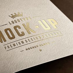 Close Up Logo Mockups Download Free By PixelBuddha