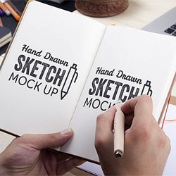 Hand Drawn Sketch Mock Up 2 Download Free Mockups By PixelBuddha
