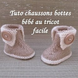 Les Tutos De Fadinou Tuto Chausson Bebe Bottes A Boutons Au