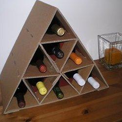 DIY Cardboard Wine Rack